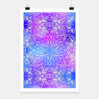 Thumbnail image of Colorful silver mandala Poster, Live Heroes