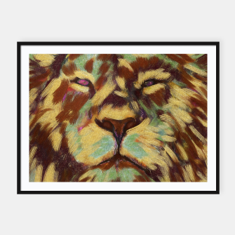 Thumbnail image of Lion king Framed poster, Live Heroes