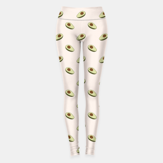 Thumbnail image of Avocado Pattern Leggings, Live Heroes