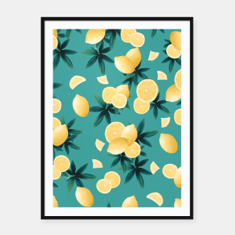 Miniaturka Lemon Twist Vibes #6 #tropical #fruit #decor #art  Plakat mit rahmen, Live Heroes