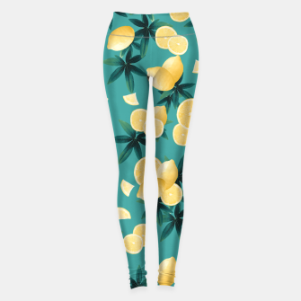Thumbnail image of Lemon Twist Vibes #6 #tropical #fruit #decor #art  Leggings, Live Heroes