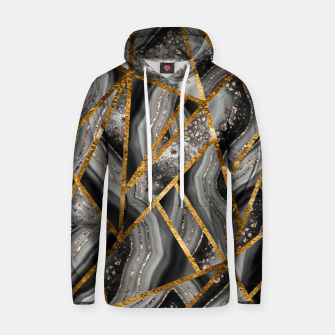 Thumbnail image of Black Night Agate Gold Geometric Glam #3 #geo #decor #art Kapuzenpullover, Live Heroes