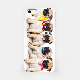 Thumbnail image of Pug Puppies Cute  Accessories Gift iPhone Case, Live Heroes