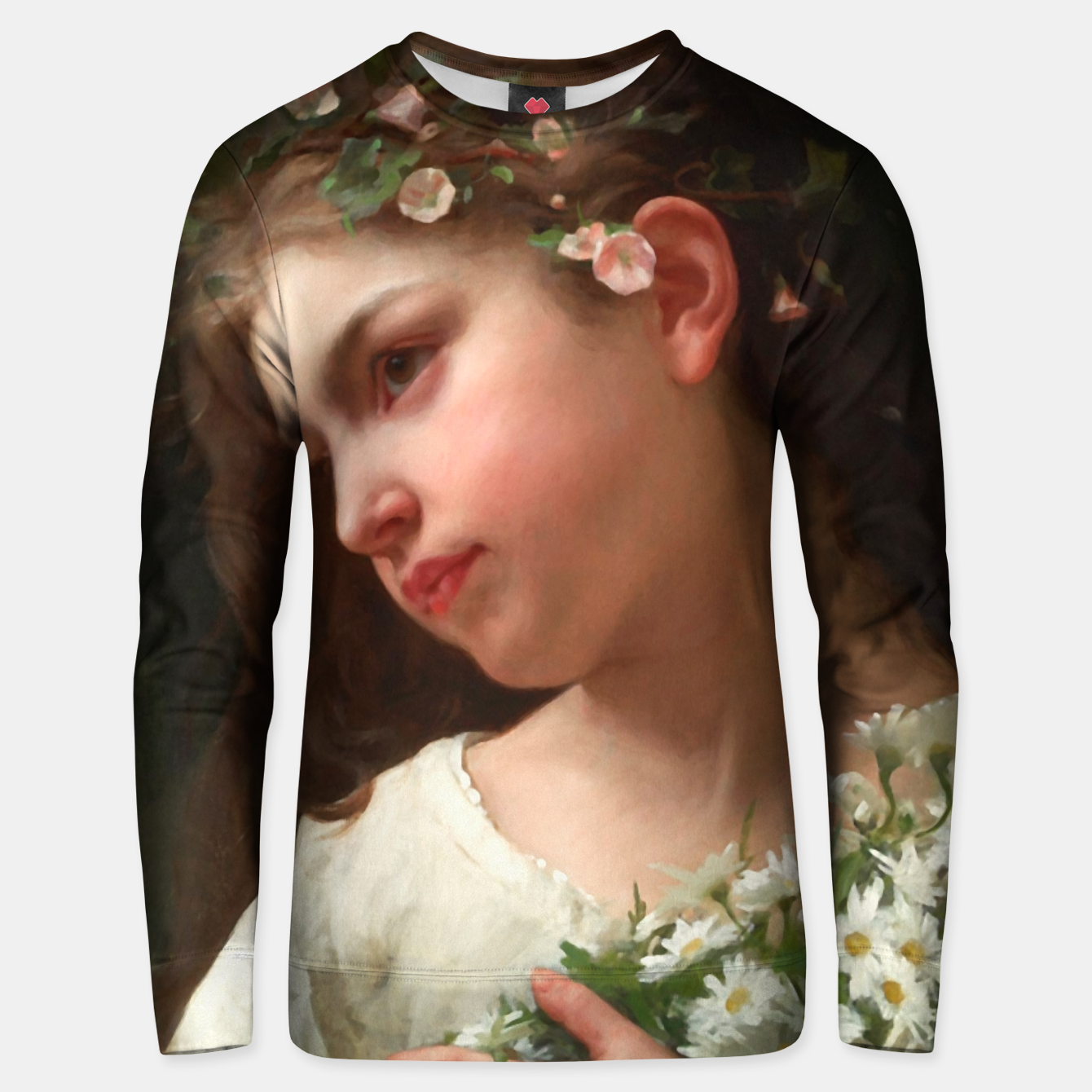 Zdjęcie Xzendor7 Girl with a Bouquet of Daisies by Jules Cyrille Cave Unisex sweater - Live Heroes