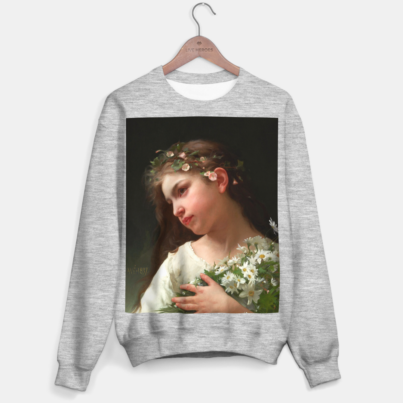 Zdjęcie Xzendor7 Girl with a Bouquet of Daisies by Jules Cyrille Cave Sweater regular - Live Heroes