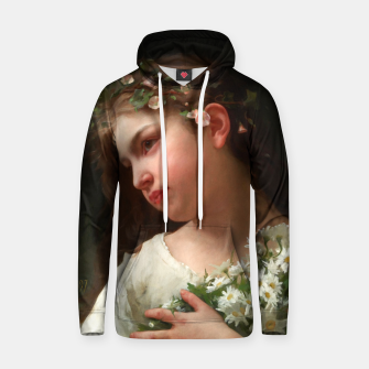 Xzendor7 Girl with a Bouquet of Daisies by Jules Cyrille Cave Hoodie obraz miniatury