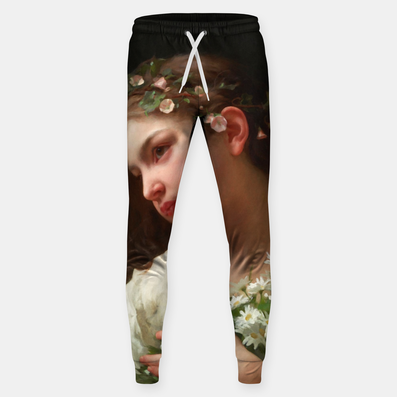 Zdjęcie Xzendor7 Girl with a Bouquet of Daisies by Jules Cyrille Cave Sweatpants - Live Heroes