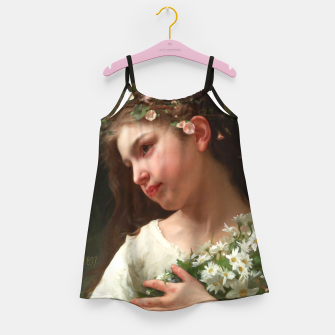 Xzendor7 Girl with a Bouquet of Daisies by Jules Cyrille Cave Girl's dress obraz miniatury
