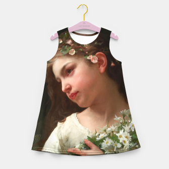 Xzendor7 Girl with a Bouquet of Daisies by Jules Cyrille Cave Girl's summer dress obraz miniatury