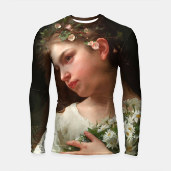 Xzendor7 Girl with a Bouquet of Daisies by Jules Cyrille Cave Longsleeve rashguard  obraz miniatury