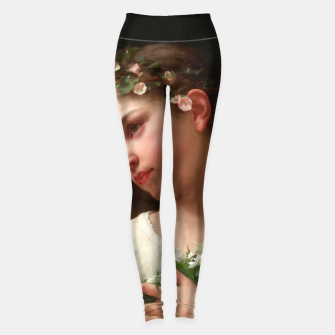 Miniaturka Xzendor7 Girl with a Bouquet of Daisies by Jules Cyrille Cave Leggings, Live Heroes