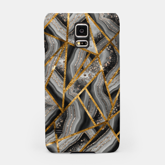 Miniatur Black Night Agate Gold Geometric Glam #3 #geo #decor #art Handyhülle für Samsung, Live Heroes