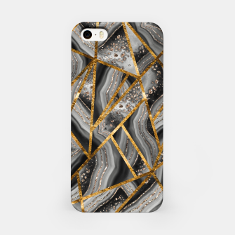 Thumbnail image of Black Night Agate Gold Geometric Glam #3 #geo #decor #art iPhone-Hülle, Live Heroes