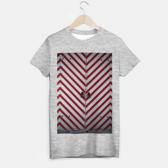 Miniaturka Striped door T-shirt regular, Live Heroes