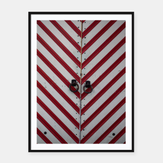 Miniaturka Striped door Framed poster, Live Heroes