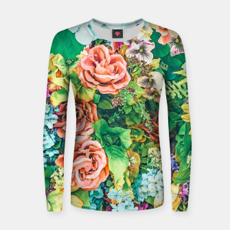 Thumbnail image of Vintage Garden Women sweater, Live Heroes