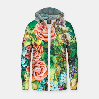 Thumbnail image of Vintage Garden Zip up hoodie, Live Heroes
