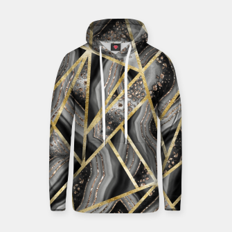 Miniaturka Black Night Agate Gold Geometric Glam #1 #geo #decor #art  Kapuzenpullover, Live Heroes