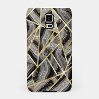 Miniaturka Black Night Agate Gold Geometric Glam #1 #geo #decor #art  Handyhülle für Samsung, Live Heroes