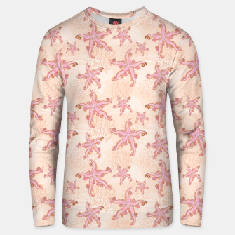 Thumbnail image of Starfish and Coral Pink Pastel  Unisex sweater, Live Heroes