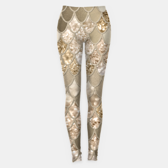 Miniaturka Mermaid Glitter Scales #5 #shiny #decor #art  Leggings, Live Heroes