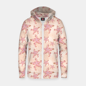 Thumbnail image of Starfish and Coral Pink Pastel  Zip up hoodie, Live Heroes