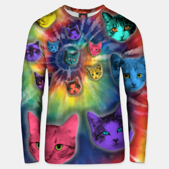 Miniatur TIE DYE CATS Sudadera unisex, Live Heroes