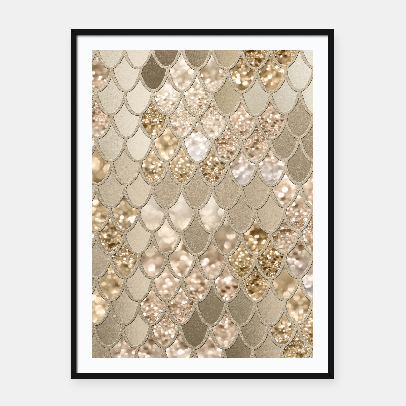Zdjęcie Mermaid Glitter Scales #5 #shiny #decor #art  Plakat mit rahmen - Live Heroes