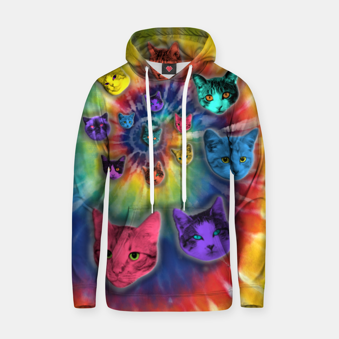 Image of TIE DYE CATS Sudadera con capucha - Live Heroes