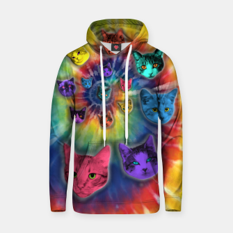 Thumbnail image of TIE DYE CATS Sudadera con capucha, Live Heroes