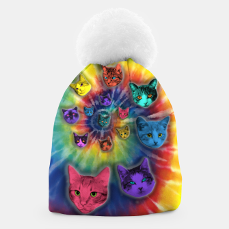 Thumbnail image of TIE DYE CATS Gorro, Live Heroes