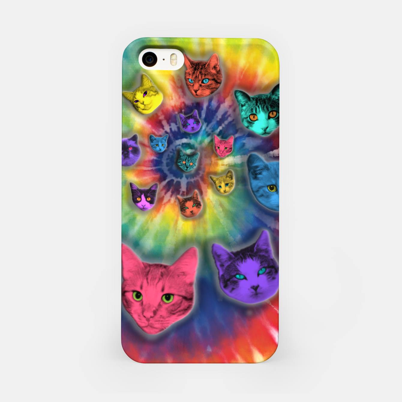 Image of TIE DYE CATS Carcasa por Iphone - Live Heroes