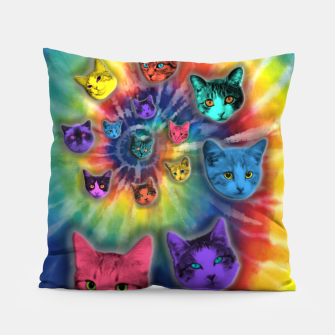 Thumbnail image of TIE DYE CATS Almohada, Live Heroes