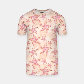 Thumbnail image of Starfish and Coral Pink Pastel  T-shirt, Live Heroes