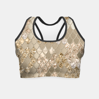 Miniaturka Mermaid Glitter Scales #5 #shiny #decor #art  Crop Top, Live Heroes