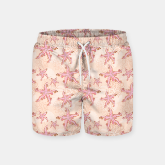 Thumbnail image of Starfish and Coral Pink Pastel  Swim Shorts, Live Heroes
