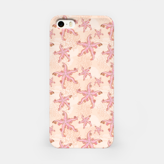 Miniatur Starfish and Coral Pink Pastel  iPhone Case, Live Heroes