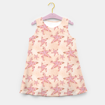 Miniature de image de Starfish and Coral Pink Pastel  Girl's summer dress, Live Heroes