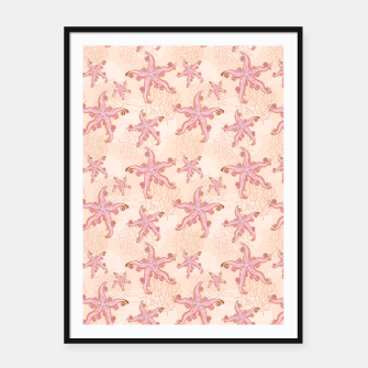 Miniature de image de Starfish and Coral Pink Pastel  Framed poster, Live Heroes