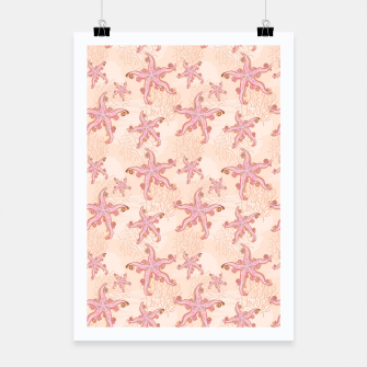 Miniature de image de Starfish and Coral Pink Pastel  Poster, Live Heroes