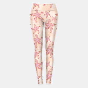 Thumbnail image of Starfish and Coral Pink Pastel  Leggings, Live Heroes