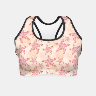 Miniatur Starfish and Coral Pink Pastel  Crop Top, Live Heroes
