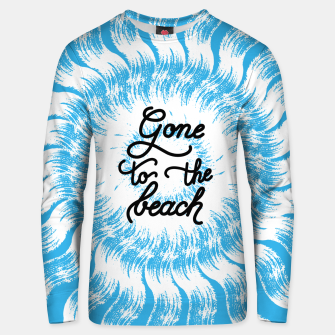 Miniatur Gone to the beach (Blue) Unisex sweater, Live Heroes