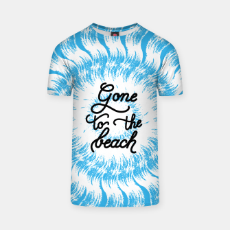 Thumbnail image of Gone to the beach (Blue) T-shirt, Live Heroes