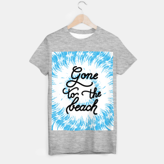 Miniatur Gone to the beach (Blue) T-shirt regular, Live Heroes