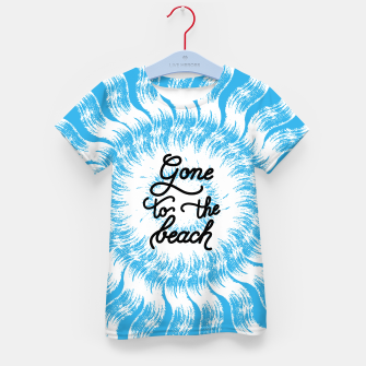 Thumbnail image of Gone to the beach (Blue) Kid's t-shirt, Live Heroes