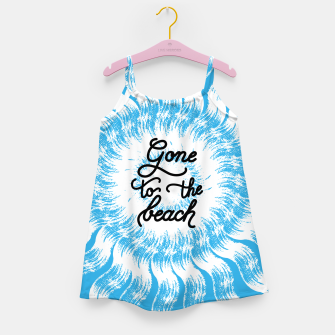 Thumbnail image of Gone to the beach (Blue) Girl's dress, Live Heroes