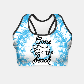 Miniatur Gone to the beach (Blue) Crop Top, Live Heroes