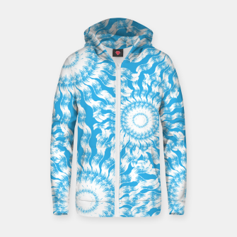 Thumbnail image of Underwater Flowers Zip up hoodie, Live Heroes