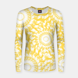 Miniatur Abstract Sunflowers Women sweater, Live Heroes